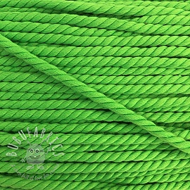 Cotton cord 5 mm neon green