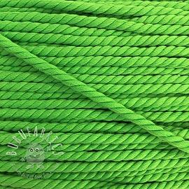 Cotton cord 5 mm neon green