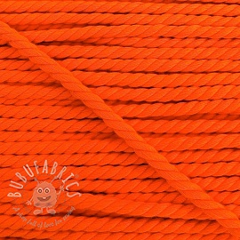 Cotton cord 5 mm neon orange