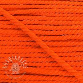 Cotton cord 5 mm neon orange