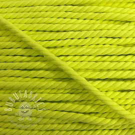Cotton cord 5 mm neon yellow