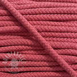 Cotton cord 8 mm coral