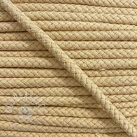 Cotton cord 8 mm light yellow