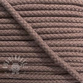 Cotton cord 8 mm mauve