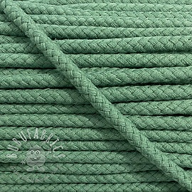 Cotton cord 8 mm old green