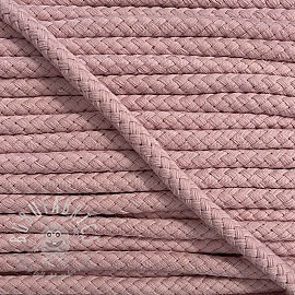 Cotton cord 8 mm old pink