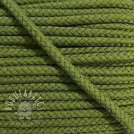Cotton cord 8 mm olive green