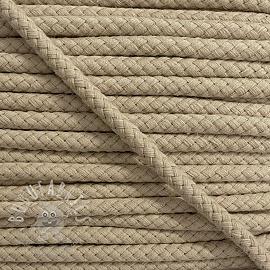 Cotton cord 8 mm pebble