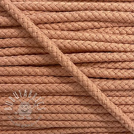 Cotton cord 8 mm salmon