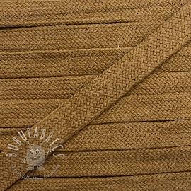 Cotton cord flat 17 mm brown