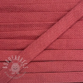 Cotton cord flat 17 mm coral