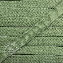 Cotton cord flat 17 mm dark old green