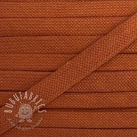 Cotton cord flat 17 mm dark orange