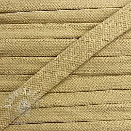Cotton cord flat 17 mm light yellow