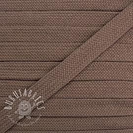 Cotton cord flat 17 mm mauve