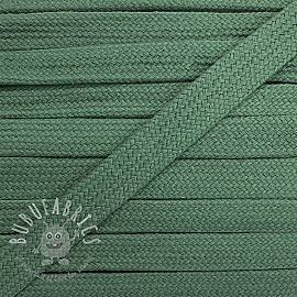 Cotton cord flat 17 mm old green