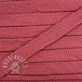 Cotton cord flat 17 mm old pink