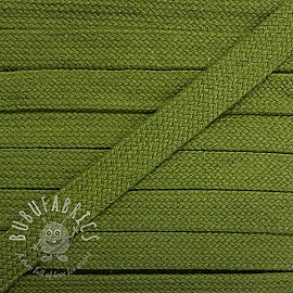 Cotton cord flat 17 mm olive green