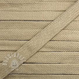 Cotton cord flat 17 mm pebble