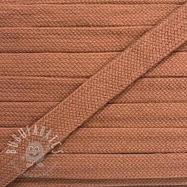 Cotton cord flat 17 mm salmon