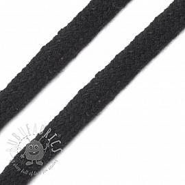Cotton cord flat 7 mm black