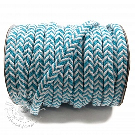 Cotton cord twisted aqua