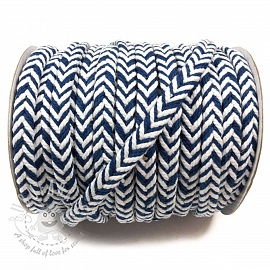 Cotton cord twisted dark blue