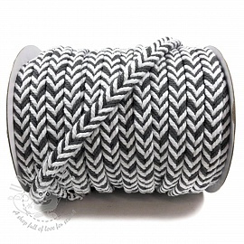 Cotton cord twisted dark grey