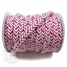 Cotton cord twisted fuchsia