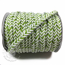 Cotton cord twisted lime