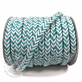 Cotton cord twisted mint