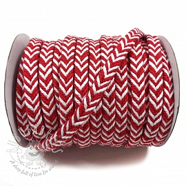 Cotton cord twisted red