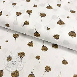 Cotton fabric Aegir flowers digital print