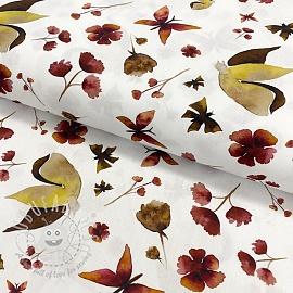 Cotton fabric Amor butterflies digital print