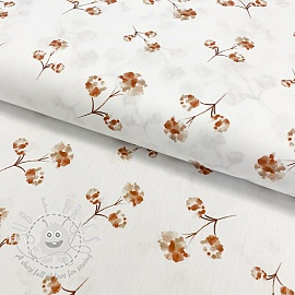 Cotton fabric Amor flowers digital print
