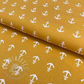 Cotton fabric Anchor ochre