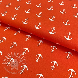Cotton fabric Anchor orange