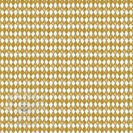 Cotton fabric Arlequeen rhombus ochre