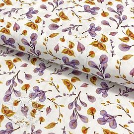 Cotton fabric Aurora leaf digital print