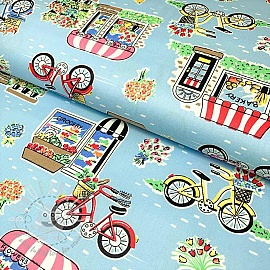 Cotton fabric Bicycle