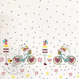 Cotton fabric Bicycle spring border