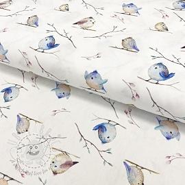 Cotton fabric Birdy digital print
