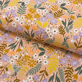 Cotton fabric Brushed bloom peach