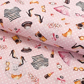 Cotton fabric Ladies bussiness digital print