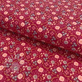Cotton fabric Cameo red