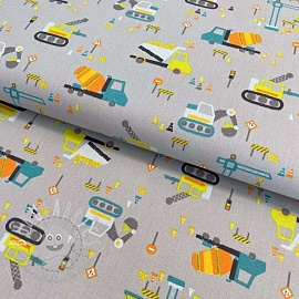 Cotton fabric Construction light grey