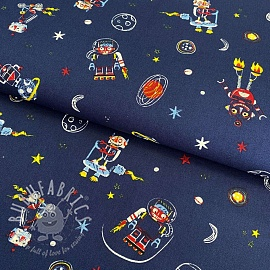Cotton fabric Cool space vehicles marine