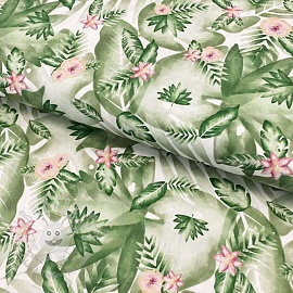 Cotton fabric Devi nature digital print