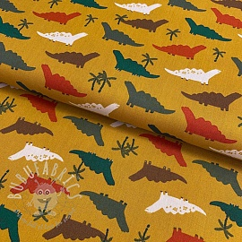 Cotton fabric Dino ochre