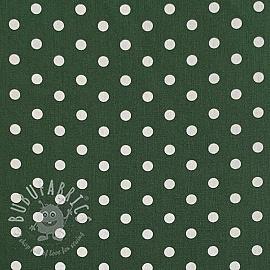 Cotton fabric Dots dark green